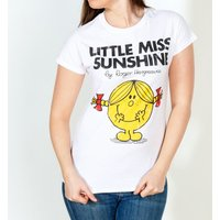 Women's White Little Miss Sunshine Fitted T-Shirt - Little Miss Gifts