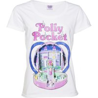 Women's White Vintage Polly Pocket Scoop Neck T-Shirt - Polly Pocket Gifts