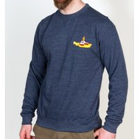 Yellow Submarine Embroidered Heather Navy Sweater - Sweater Gifts