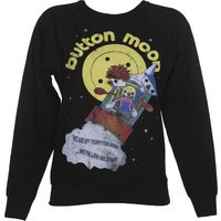 Women's Black We're Off To Button Moon Sweater - Sweater Gifts