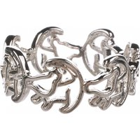 Platinum Plated Simba Outline Lion King Ring - Disney Gifts