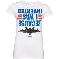 Women's Top Gun Because I Was Inverted Fitted T-Shirt - Gun Gifts