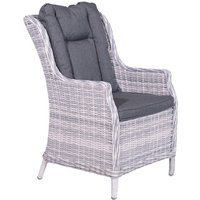 Garden Impressions Marbelle lounge dining stoel wicker cloudy grey
