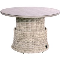 Supper Club verstelbare salontafel Soho Beach Ø100cm - beige
