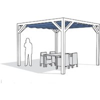 Complete Nesling pergola Stand Alone antraciet 370 x 370 cm