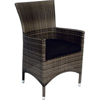 Supper Club Stoel Lugo stone grey wicker