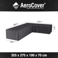 AeroCover loungesethoes 330x275x100xH70 R antraciet