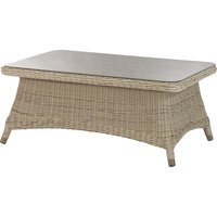 4 Seasons Outdoor Brighton salontafel 110 x 70 x 45 cm +glas - Pure