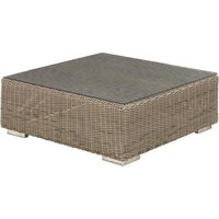 4 Seasons Outdoor Kingston salontafel 95 x 95 x 35 cm. +glas - Pure