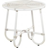 4 Seasons Outdoor Olivia salontafel 60 cm. Ø + glas (H 55cm.) - Provance - wit