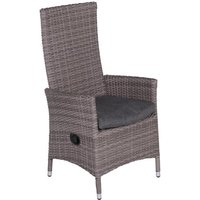 Garden Impressions Mexico verstelbare fauteuil - organic grey/antraciet