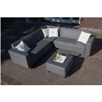 Triniti tom lounge hoekbank met hocker graphite