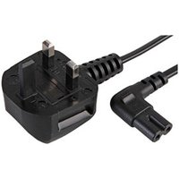 0.5m Angled Figure 8 Power Cord C7 90 Degree Lead