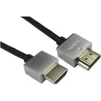 0.5m Super Slim HDMI Cable Black 4k