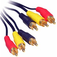 0.5m 3x Phono Audio Video Cable