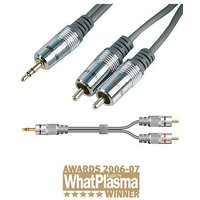 3.5mm Jack to Phono Cable 1m Techlink 680021