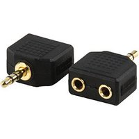 3.5mm Stereo Plug to 2x 3.5mm Stereo Socket Adapter