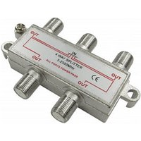 4 Port F-Connector Coaxial Satellite Splitter sale image