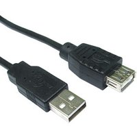 5M USB Extension Cable Black USB A Male to Female sale image