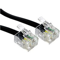 5m Black RJ11 ADSL Modem Cable sale image