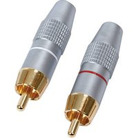 High Quality Phono Plugs Metal Body Gold Plated 2 Pack sale image