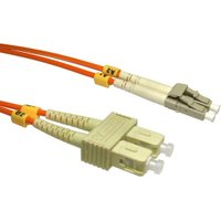 0.5m Fibre Optic Cable LC-SC orange 50/125 OM2