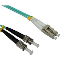 LC - ST 50/125 OM3 Fibre Optic Patch Cable 3m