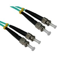 0.5m ST-ST OM3 Fibre Optic Network Cable