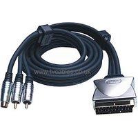 Profigold PGV632 1.5m S-Video + 2x Phono - Scart Cable sale image