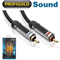 10m 2x RCA Phono Stereo Audio Cable Profigold PROA4210