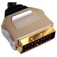 0.5m Short Scart Lead Gold Plated RGB Compatible