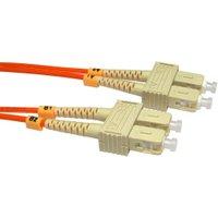 2m Fibre Optic Cable SC-SC orange 50/125 OM2