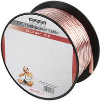15m Speaker Cable 2 x 1.5mm OFC Transparent Jacket