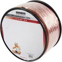25m Speaker Cable 2 x 4mm OFC Transparent Jacket