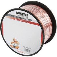 25m Speaker Cable 2 x 2.5mm OFC Transparent Jacket