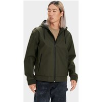 UGG Mens Diego Rubberized Jacket in Olive, Size Medium, Faux Leather