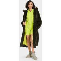 UGG Womens Koko Oversized Faux Fur Coat in Urban Jungle, Size XS/S
