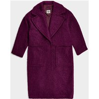 UGG Womens Hattie Long Oversized Coat in Eggplant, Size Small, Shearling