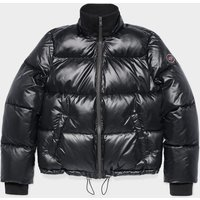 UGG Womens Izzie Puffer Nylon Jacket in Black, Size Medium