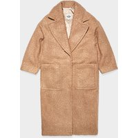 UGG Womens Hattie Long Oversized Coat in Camel, Size XL, Shearling