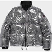 UGG Womens Izzie Puffer Nylon Jacket in Silver Metallic, Siz