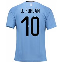 2018-2019 Uruguay Home Football Shirt (D. Forlan 10)