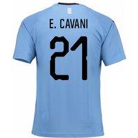 2018-2019 Uruguay Home Football Shirt (E. Cavani 21)