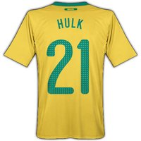 2010-11 Brazil World Cup Home (Hulk 21)