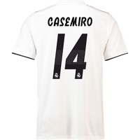 2018-19 Real Madrid Home Football Shirt (Casemiro 14) - Kids