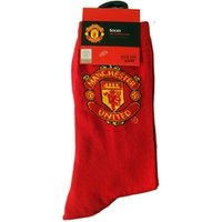 Manchester United FC Crest Red Socks Size 6-12