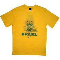 2010-11 Brazil Nike T-Shirt (Yellow)