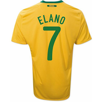 2010-11 Brazil World Cup Home (Elano 7)