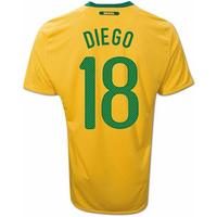 2010-11 Brazil World Cup Home (Diego 18)