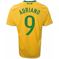 2010-11 Brazil World Cup Home (Adriano 9)